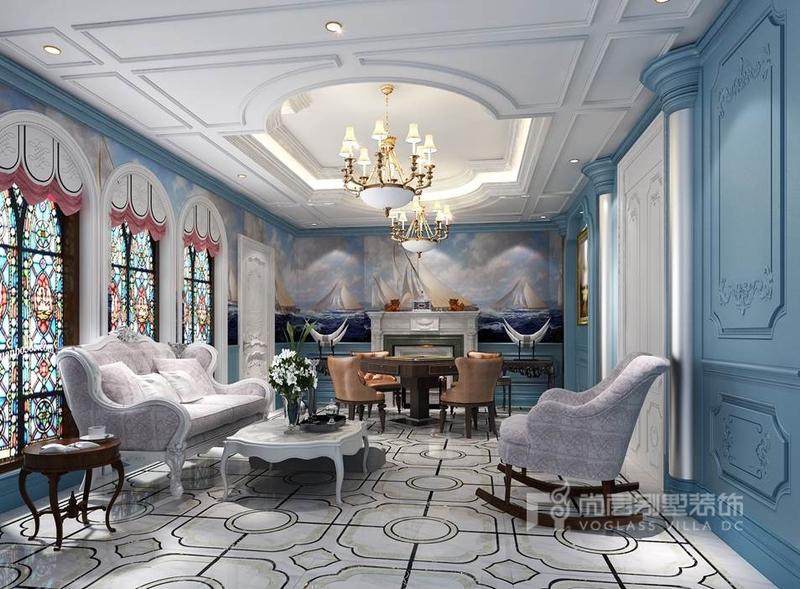 尚層裝飾 法式風格別墅裝修效果圖