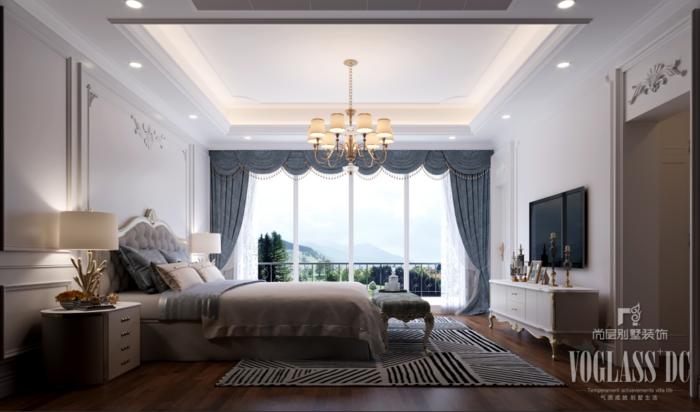 金開榮府法式風格別墅裝修效果圖 尚層裝飾別墅裝修案例