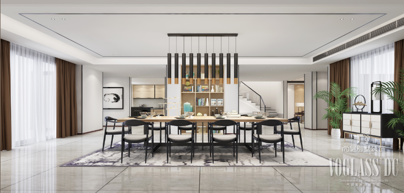 別墅餐廳中式風格裝修效果圖